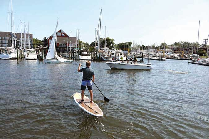 Stand Up Paddleboarding Suddenly Goes >> Stand Up Paddleboarding Safety From Both Sides Boatus Magazine