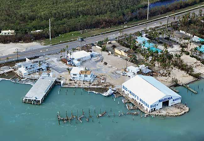 Bud N' Mary's Marina after Hurricane Irma