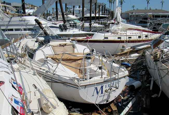 Hurricane Harvey Key Allegro Marina damage