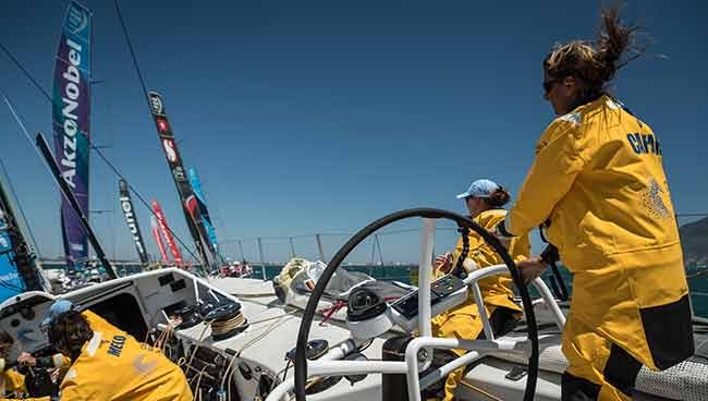 Sailing the Volvo Ocean Race
