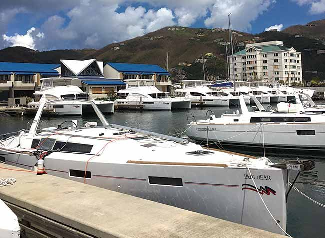 The Moorings charter fleet in Tortola