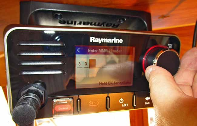 VHF radio with digital select calling