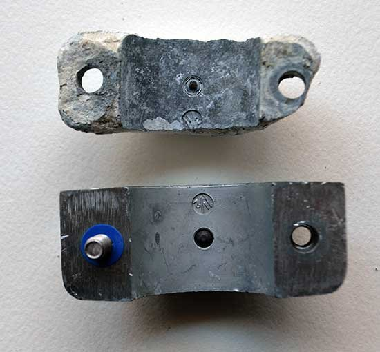 Used and new anodes