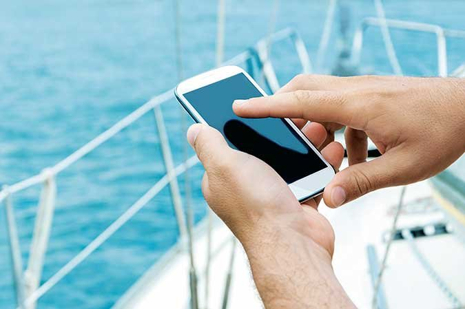 Using a smartphone onboard