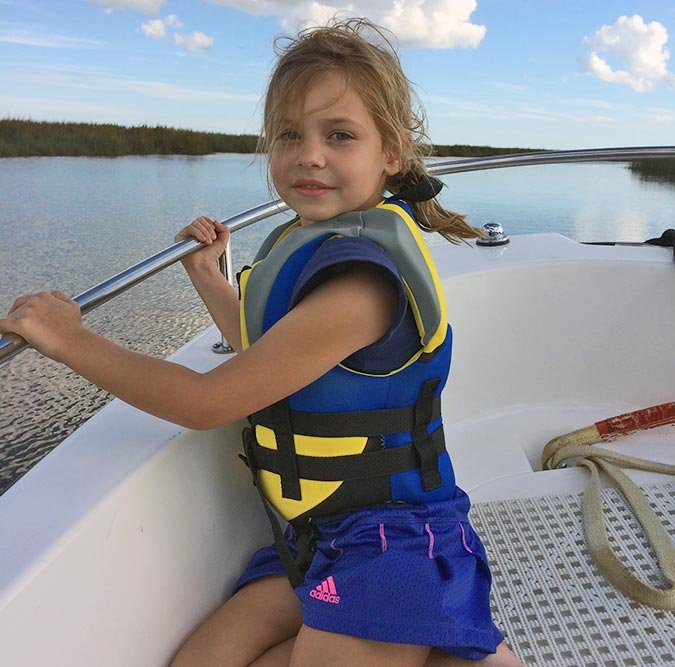 Isabel loves riding in the boat and seeing the wildlife