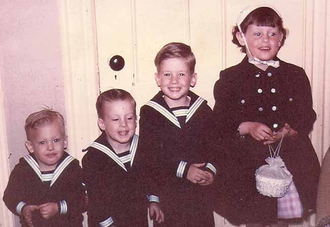 Little Captain Jack with siblings in 1963