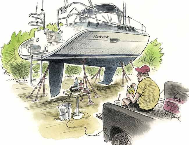 Best day on the water buffing illustration