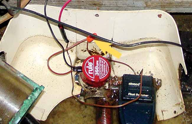 Bilge pump direct using wire wing nuts and no fuse
