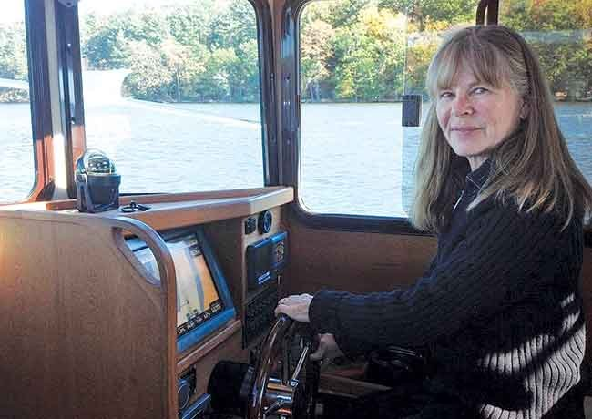 Sarah Nelson at the helm