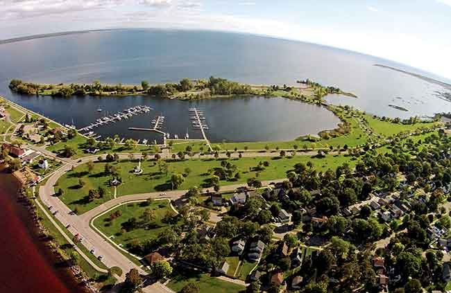 Aerial view of Escanaba