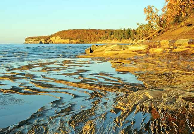 Lake Superior's sandstone shoreline