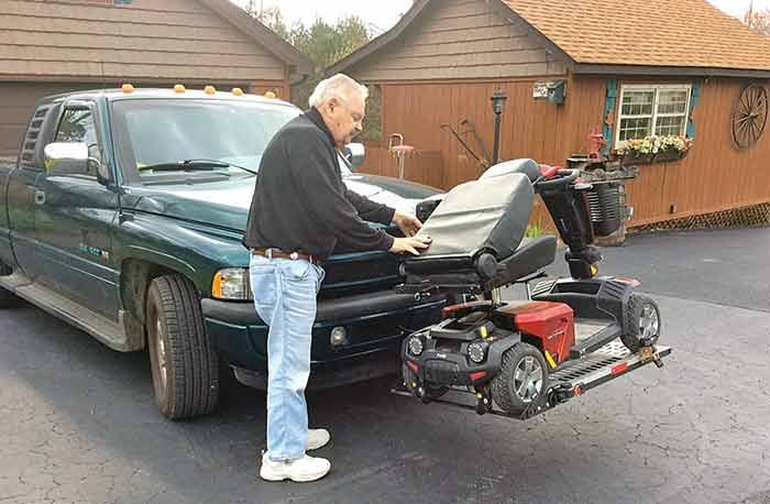 Installing wheelchair lift on pickup truck