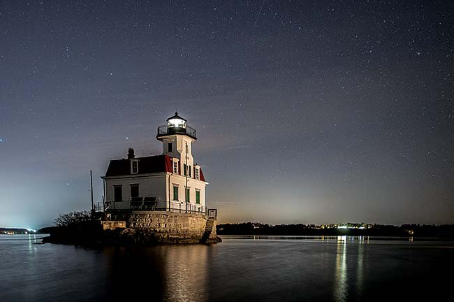 he Esopus Meadows Lighthouse on the Hudson River
