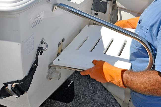 How To Add A Swim Platform And Ladder To Your Boat - BoatUS