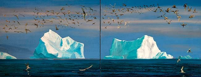 Iceberg painting by Nancy Zydler