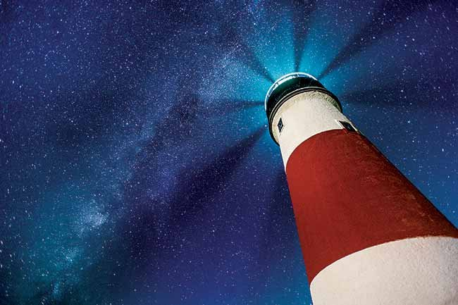 Sankaty Head Light with Milky Way on Nantucket Island