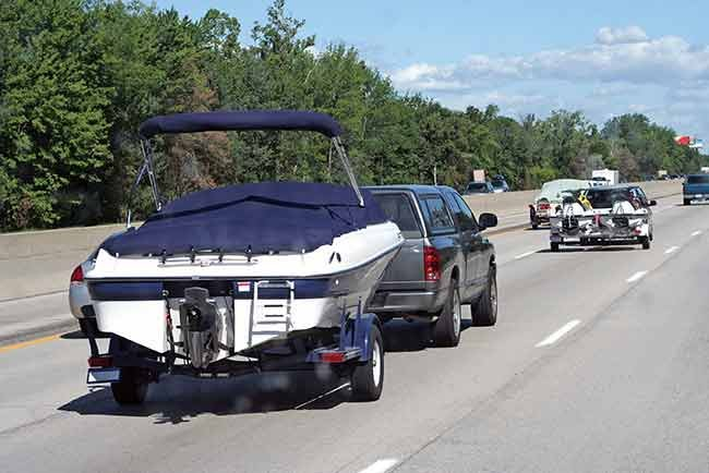 Boats towing and ski watercraft