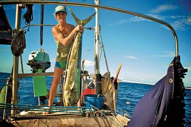 Liz with a mahi catch