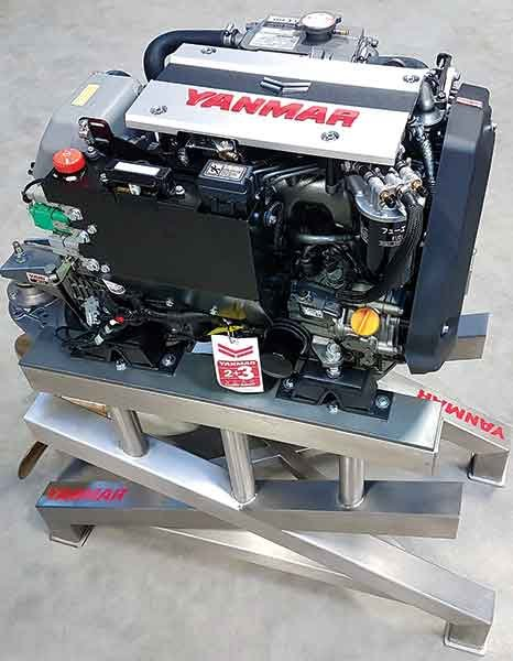 Yanmar 3JH40 three-cylinder 40-hp common-rail diesel