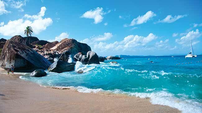 The Baths beach on Virgin Gorda