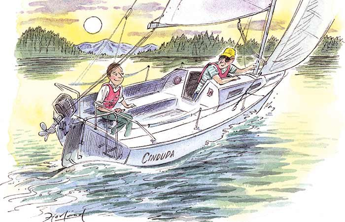 Best day on the water illustration