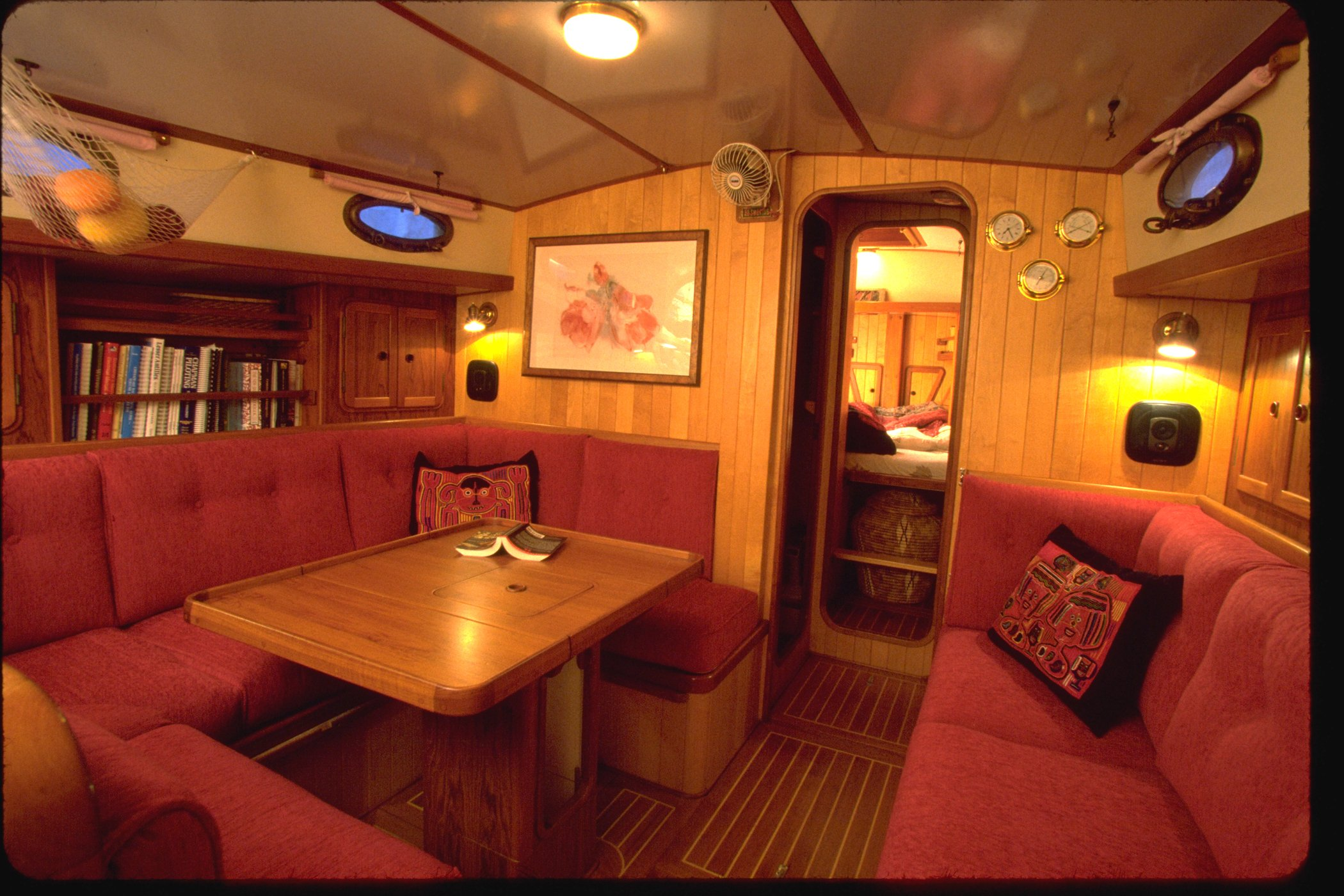 Cabin Bedroom Boat Varnish Wood Interiors Need Tlc Too Boatus Magazine
