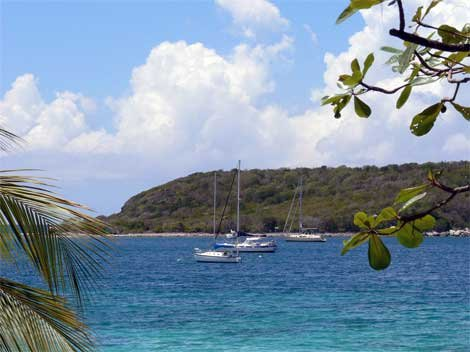 Anchored off of Vieques in the US Virgin Islands