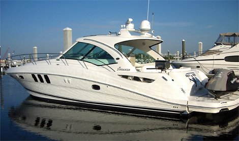 Baseball star pitcher Bronson Arroyo's boat