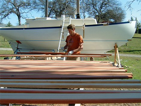 Photo of building the boat