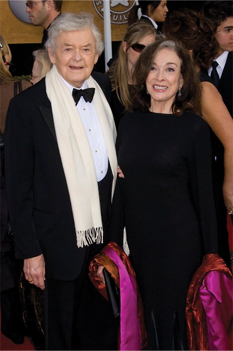 Actress Dixie Carter with husband actor Hal Holbrook on the red carpet