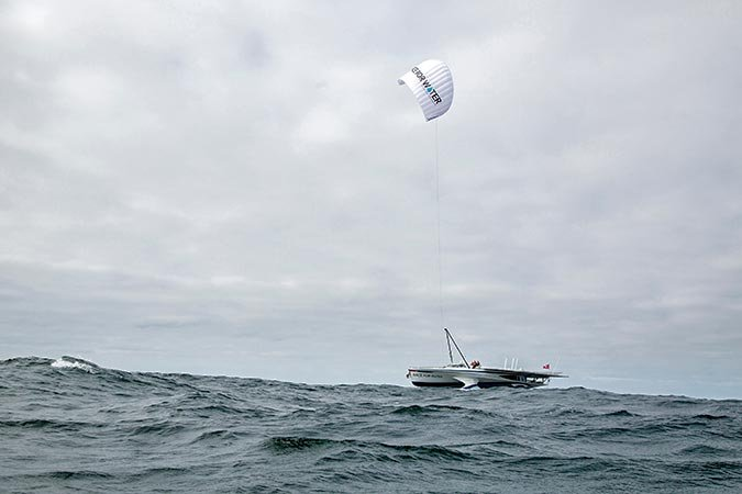 Kite sailing on Race for Water