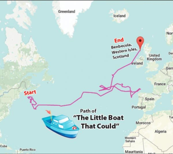 The Little Boat That Could path map