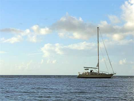 Marali at anchor in the US Virgin Islands