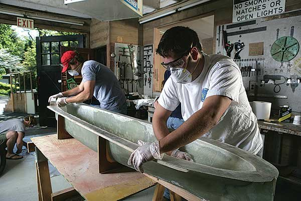 Photo of engineering students getting hands on training