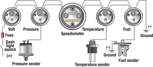 mercruiser gauges wiring