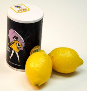 Photo of fresh lemons and salt
