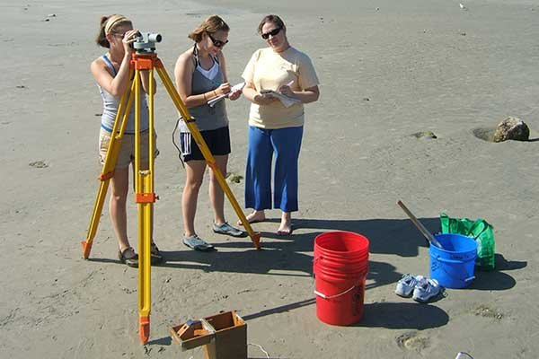 Photo of students survey Sebastian Inlet in Florida