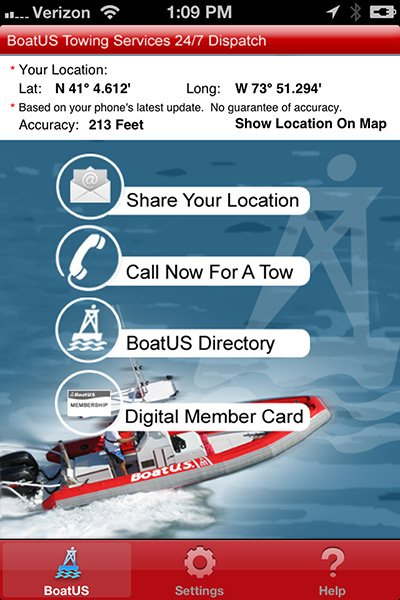 BoatUS Towing App screen shot