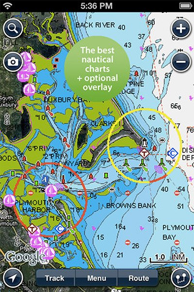 Getting a line on apps fishing boatus magazine for Navionics fishing app