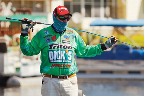 Photo of pro angler Shaw Grigsby fishing in a tournament