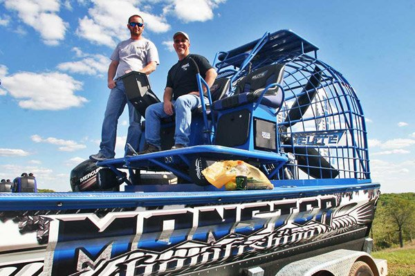 Photo of a custom airboat