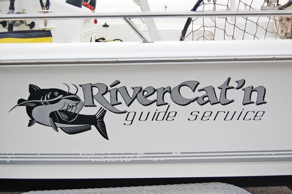 Photo of Capt. Mike Fitchetts guide boat 'RiverCat'n'