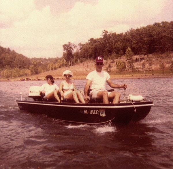 Photo of Charlie Campbell in a Ranger Boat