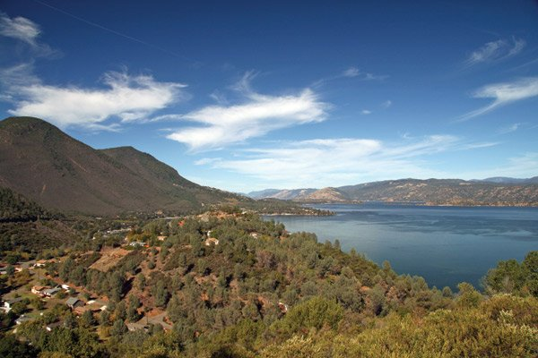 Photo of Clear Lake and surrounding mountains in Northern California