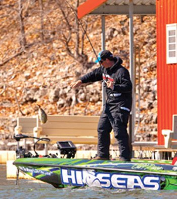Photo of Cliff Pace fishing in the 2013 Bassmaster Classic