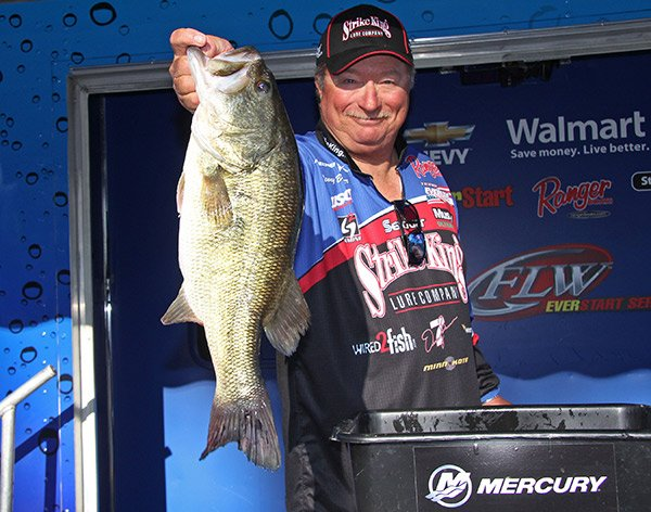 Photo of Denny Brauer holding a bass