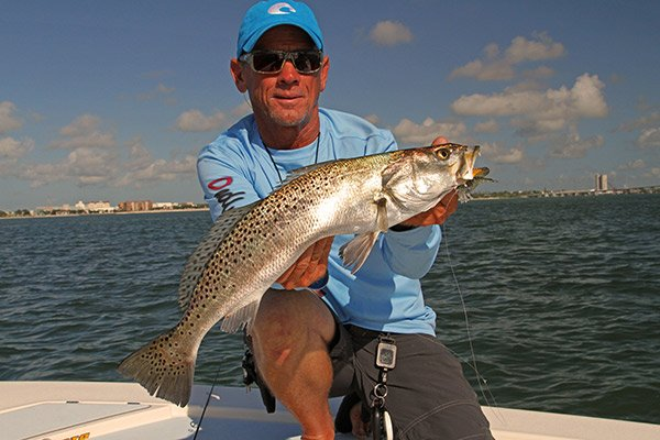 Photo of a speckled trout catch