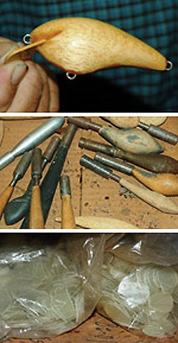 Photo of the tools used in lure making