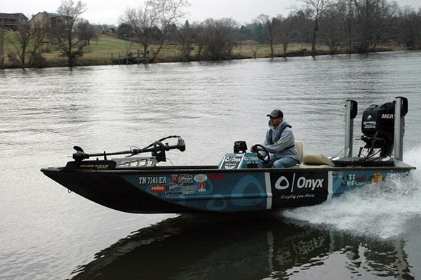 Ott defoe skimming the top fishing boatus magazine for Best river fishing boat