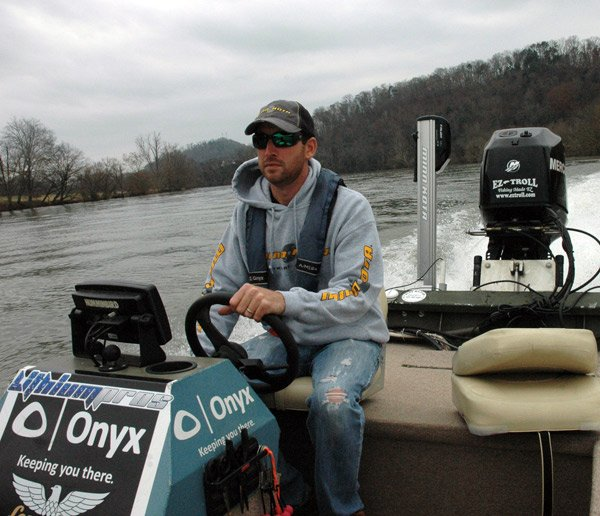 Photo of Ott DeFoe on his bass boat